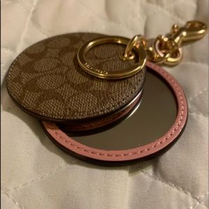 Coach key chain with mirror